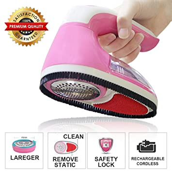 Charmant Lint Remover Electric Fabric Shaver Rechargeable Lint Shaver Fuzz Remover  Pilling Fluff Bobbles Remover For Clothes