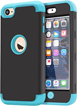 Dailylux Funda iPod Touch 5,Funda iPod Touch 6,Funda Touch 7,Prueba de Polvo Prueba de choques Carcasa H/íbrido de 3 Capas de Silicona Resistente para iPod Touch 5//6//7 Generaci/ón-Pi/ña+Gris