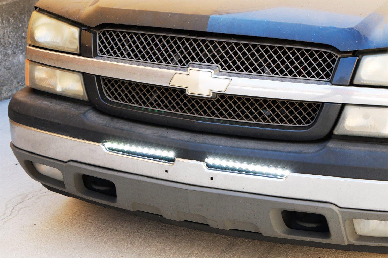 Ijdmtoy Lower Bumper 32 Led Light Bar Kit For Chevy Fuse Diagram 2007 Gmc Duramax Silverado 1500 2500 3500 Avalanche Includes 1 90w Ultra Slim High Power Cree