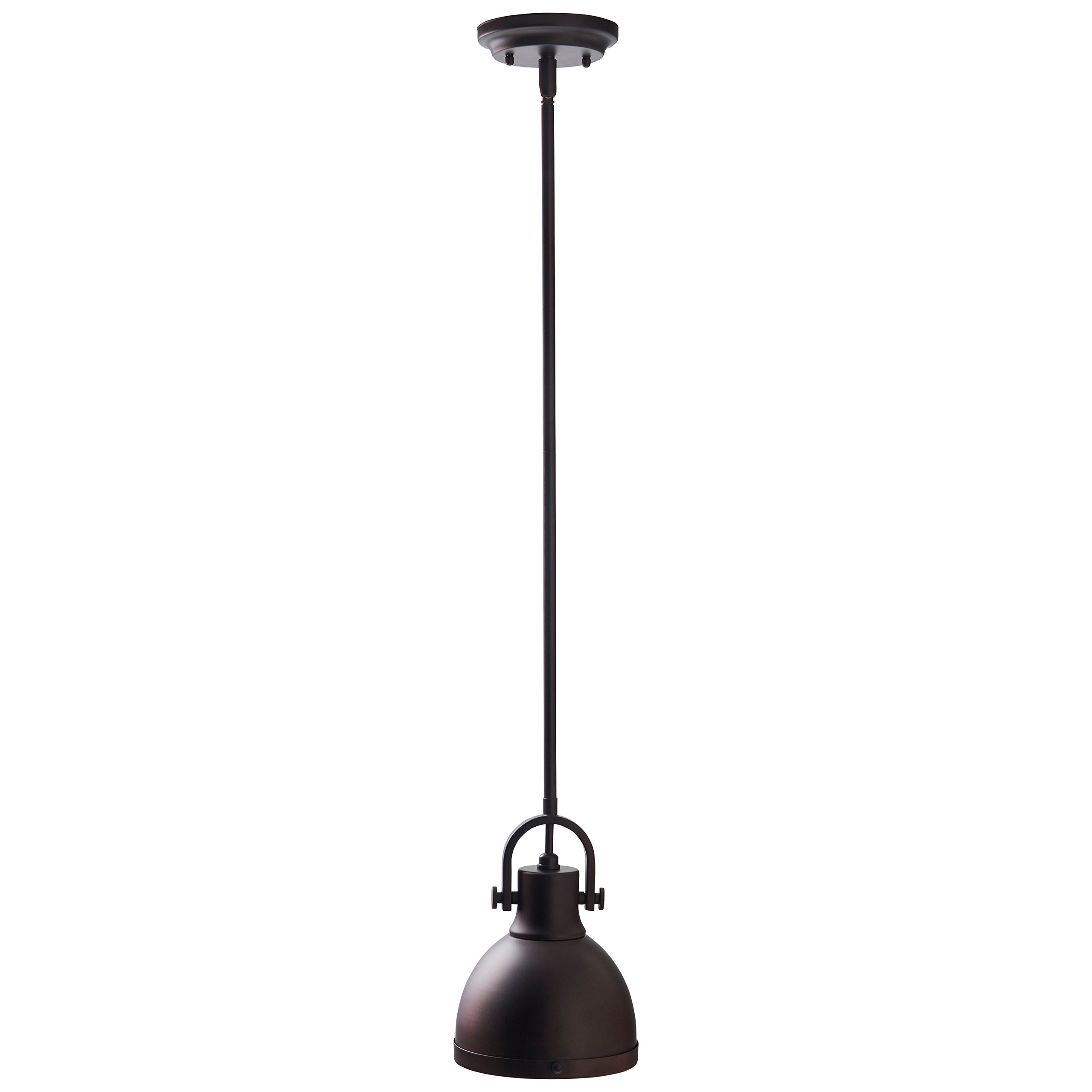 Stone & Beam Emmons Industrial Pendant with Bulb, 11.25''-59.25'', Oil-Rubbed Bronze