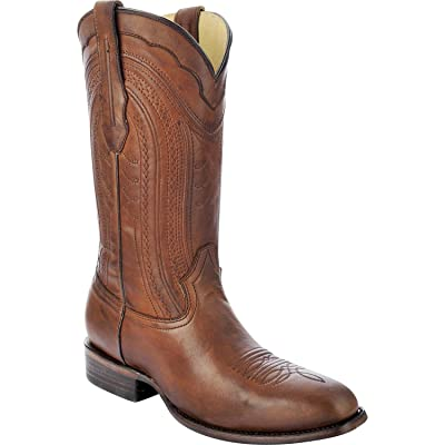CORRAL Men's Burnished Leather Cowboy Boot Square Toe - C3028   Western