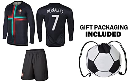 promo code 111c9 e2a68 PFC Ronaldo Jersey Portugal Away Long Sleeve Kids Soccer Cristiano Ronaldo  Jersey Soccer Gift Set Youth Sizes ✓ Premium Quality ✓ Soccer Backpack Gift  ...