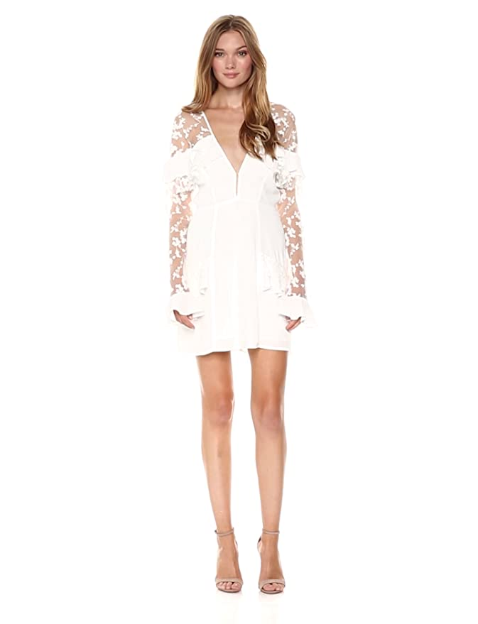 027c542ce750 Amazon.com: For Love & Lemons Women's Rosebud Embroidery Mini Dress:  Clothing