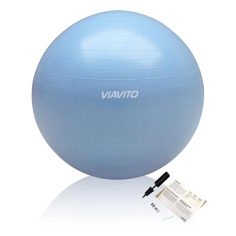 Viavito 200kg Gymball Anti-Pinchazos - Balón De Ejercicios Con Bomba - Azul - 65cm: Amazon.es: Deportes y aire libre