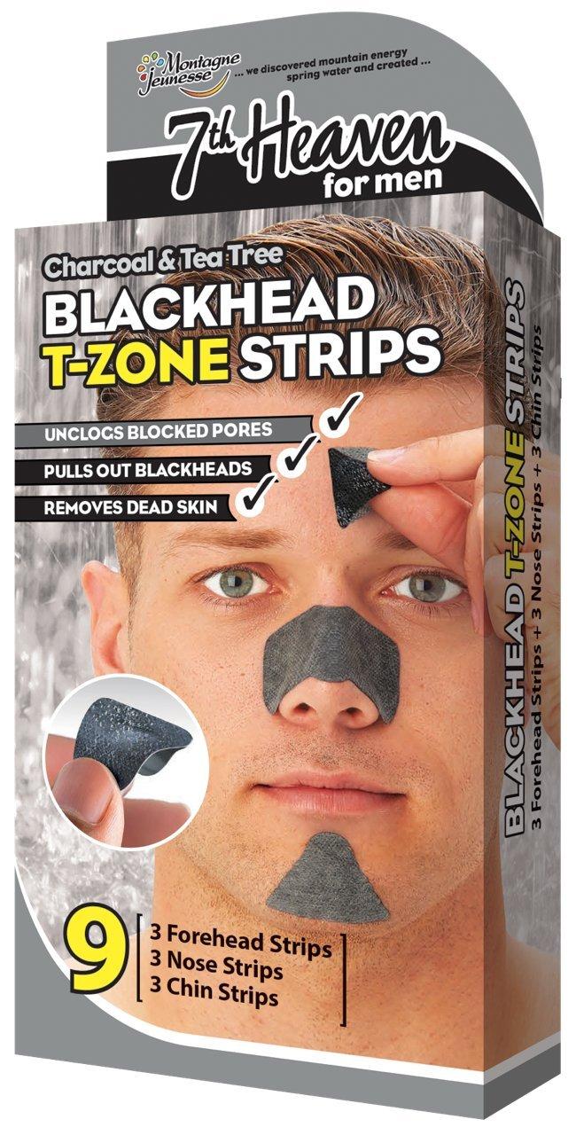 7th Heaven Boxed Men's Blackhead T-Zone Strips Montagne Jeunesse