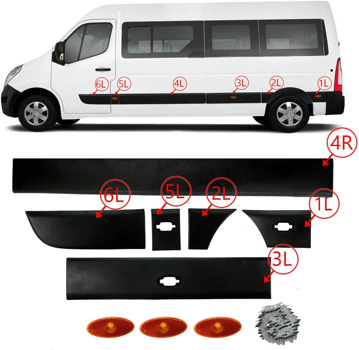 Side panel signal new model for Renault  Master-3  Oe 261B00001R
