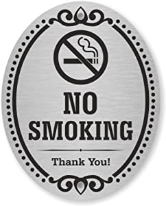 SmartSign Premium No Smoking Thank You Sign for Business & Home, 10 Year Warranty | 4