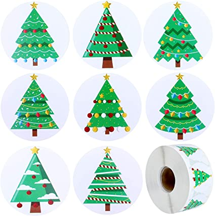 12 x Gift Tags Christmas Trees Assorted Sizes Embellishments Scrapbooking