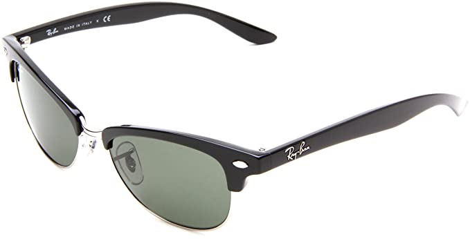 4a33fb4028b05 Ray-Ban Cathy Clubmaster RB4132 601 Black Crystal Green  Amazon.co ...