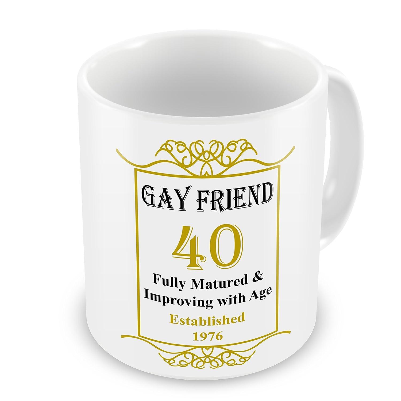 Amigo Gay 40th cumpleaños establecido 1976 años - taza ...