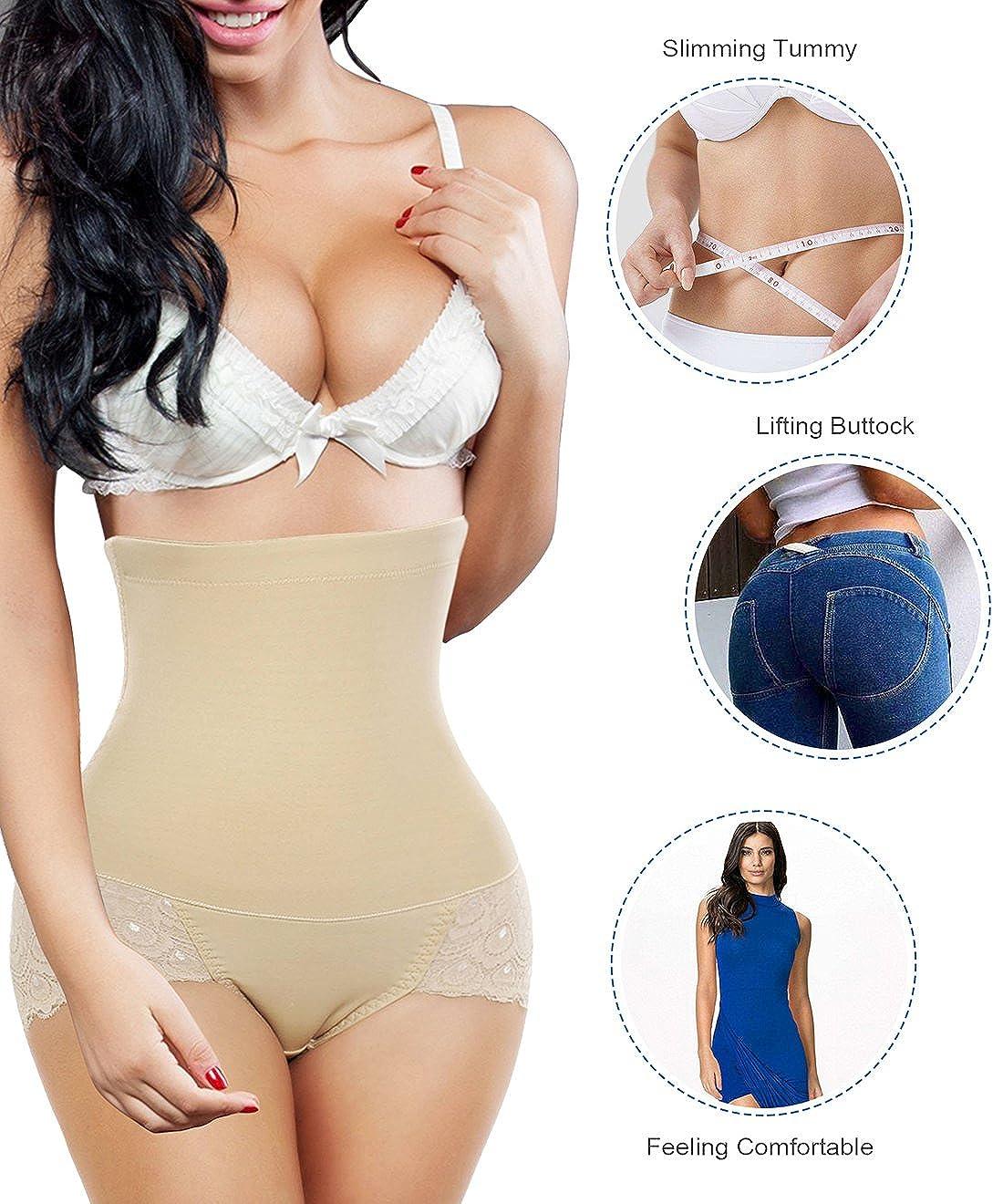 722225b89a Nebility Women Butt Lifter Shapewear Seamless Waist Trainer Hi-Waist Tummy  Control Body Shaper Panty