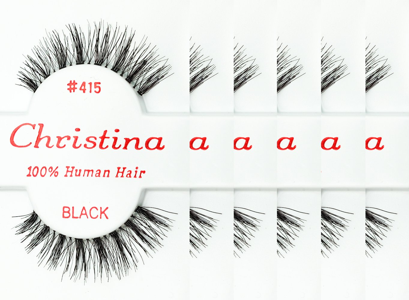 Amazon 6packs Eyelashes 415 Christina Beauty