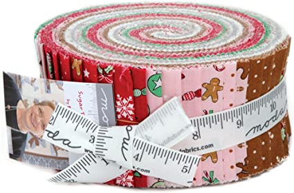 bunny hill designs sugar plum christmas jelly roll 40 25 inch strips moda fabrics 2910jr