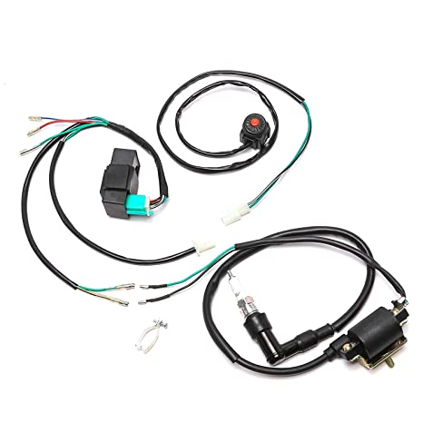 Magnificent Amazon Com Jcmoto Wire Harness Wiring Loom Cdi Ignition Coil Spark Wiring 101 Capemaxxcnl