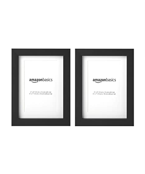 Amazonbasics Photo Frame With Mat 13 X 18 Cm Matted To 10 X 15 Cm