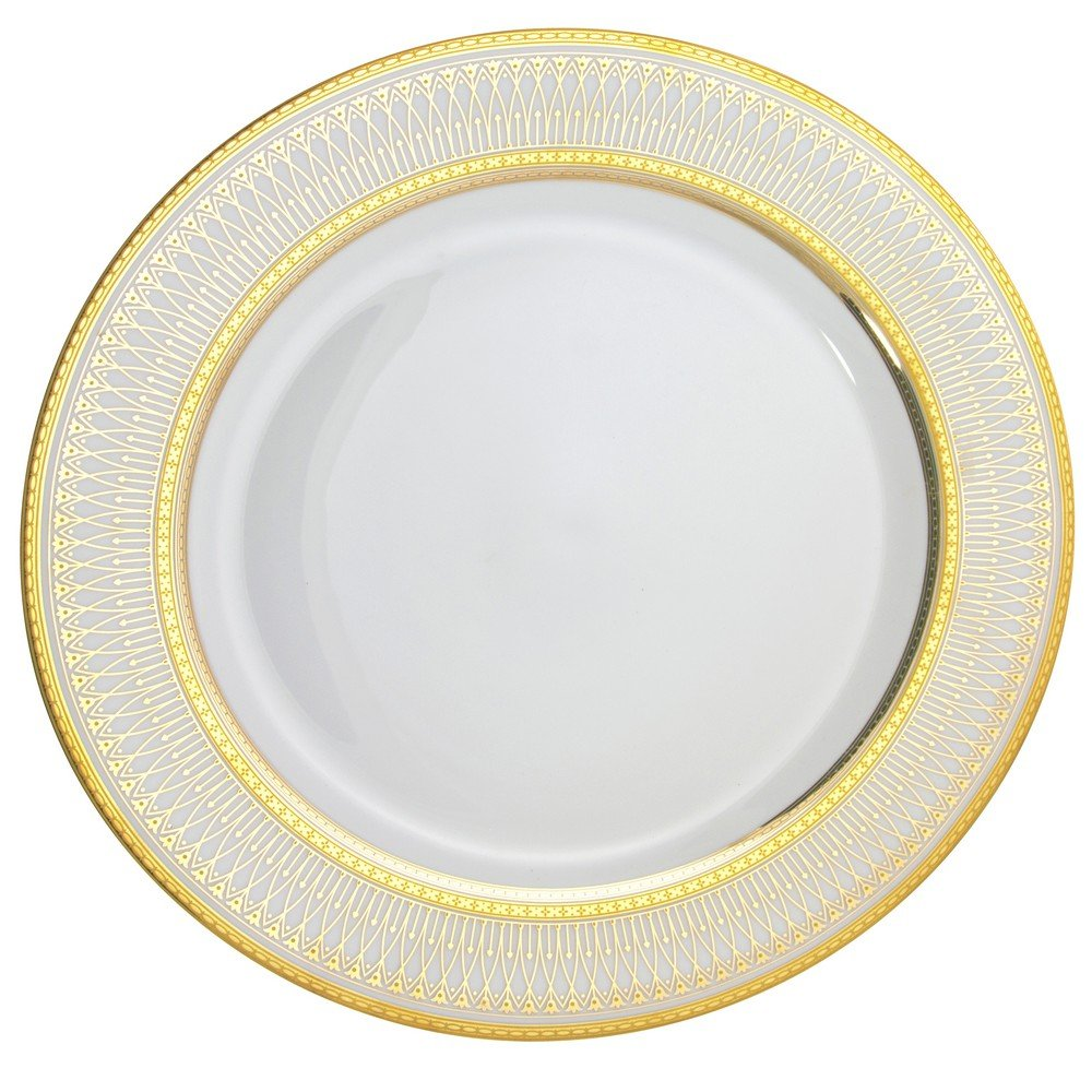 10 Strawberry Street Iriana 12'' Charger/Buffet Plate, Set of 6, Gold by 10 Strawberry Street