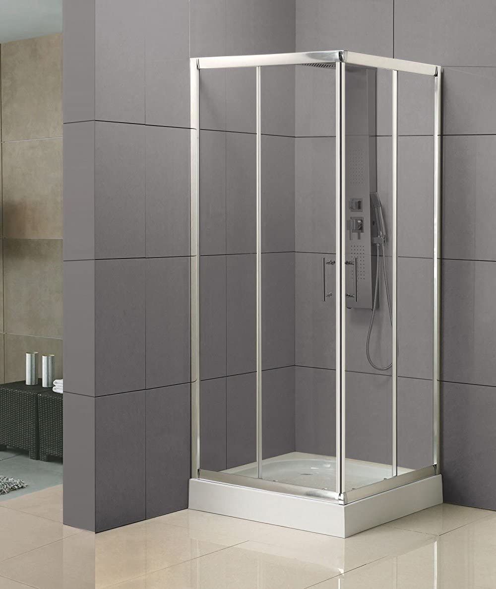 Mampara cabina de ducha rectangular de cristal lados cristal 80 x ...