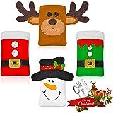 Christmas Silverware Holders, Tableware Bags Supplies for Christmas Decorations, Cutlery Holder Silverware Bag Storage…
