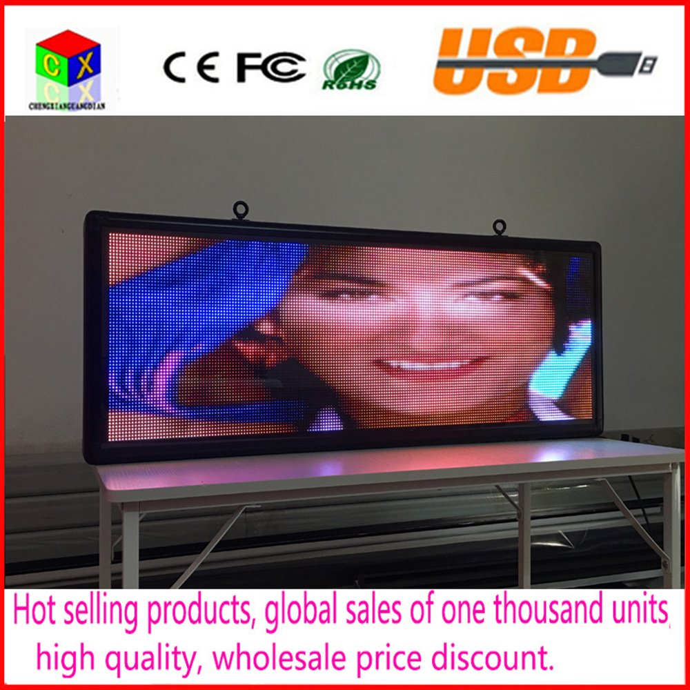 Amazon.com : Outdoor full-color P5 LED display size 15 x 40 inches advertising video screen / image signs / message board : Office Products