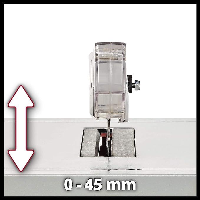 Einhell - Sierra circular de mesa (tope paralelo ajustable, carcasa resistente, metal, protección contra sobrecargas ...