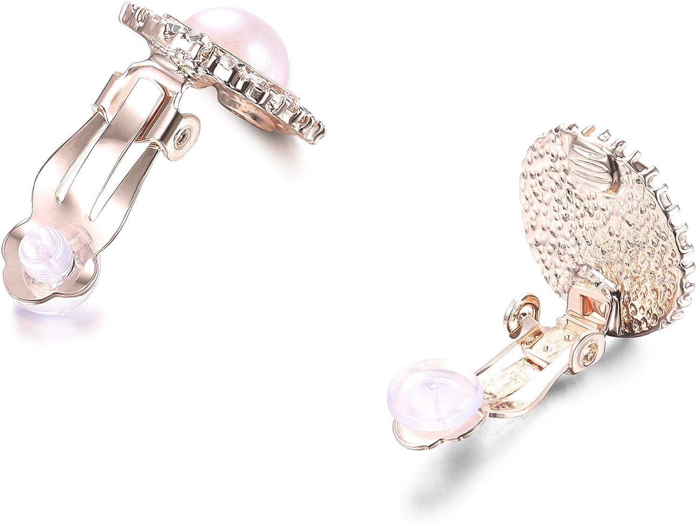 YADOCA 5 Pi/èces Pull Clips pour Femmes Filles R/étro Cardigan Collier Clips Ensemble Fleur Creuse Perle Robes Pull Ch/âle Clip