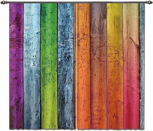 LB Rustic Home Decor Curtains Panels