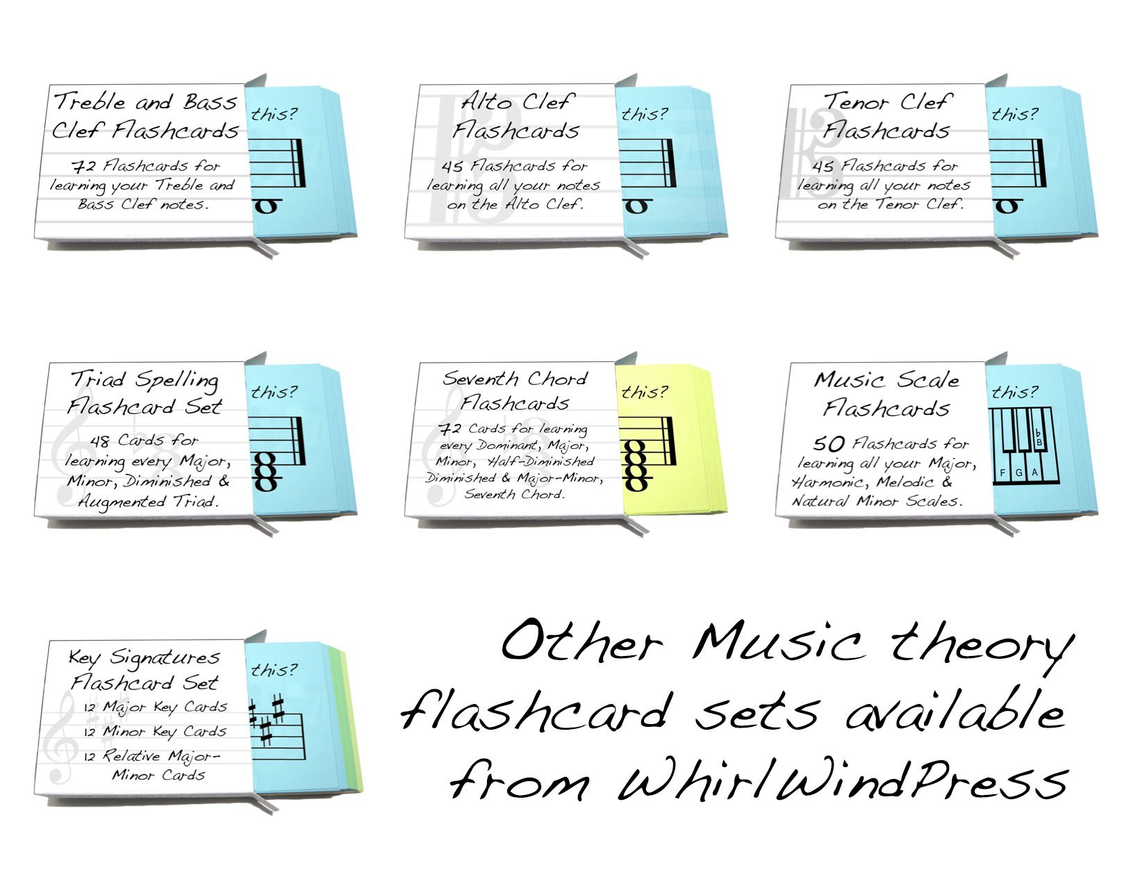Tenor Clef Note Names Flashcards - Really Fun Design for Learning to Read Music (Bassoon, Bass, Cello, Trombone))) by WhirlWindPress.ca