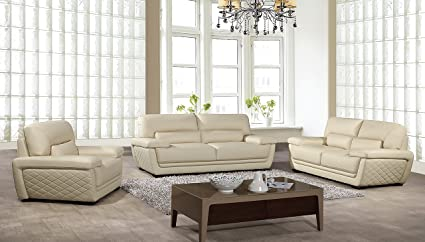 Lovely American Eagle Furniture Emma Collection Modern 3 Piece Italian Leather  Living Room Set With Sofa,