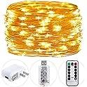 HSicily Fairy Lights Plug in 33ft 100 LED USB String Lights