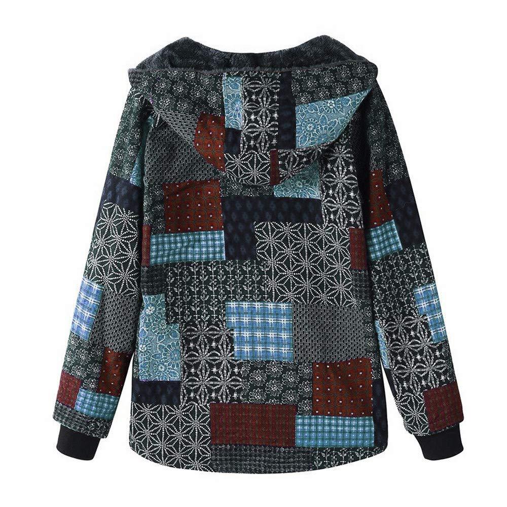 Amazon.com : Fenleo Womens Plus Size Winter Warm Sherpa Vintage Lined Zip up Hooded Sweatshirt Jacket Coat : Sports & Outdoors