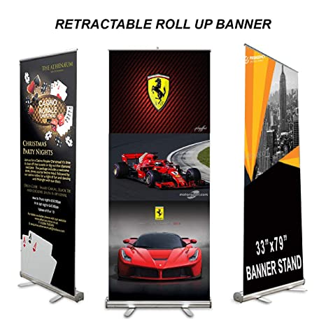Exhibition Stand Roll Up : Amazon expox retractable banner stand roll up banner stand