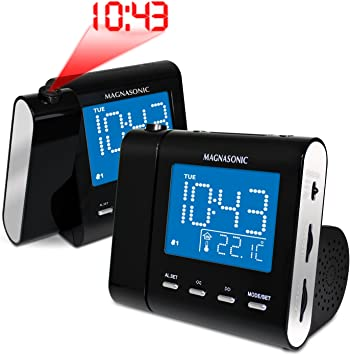 Amazon.com: Magnasonic mag-mm176 K AM/FM Radio Reloj de ...