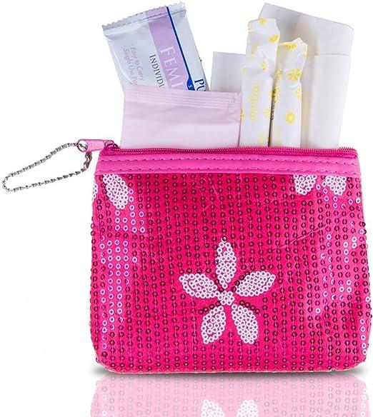 Kit de inicio de período, kit de supervivencia para el período menstrual de moda y orgánico, cuando la tía Flo hace una visita sorpresa. (Tu primera ...