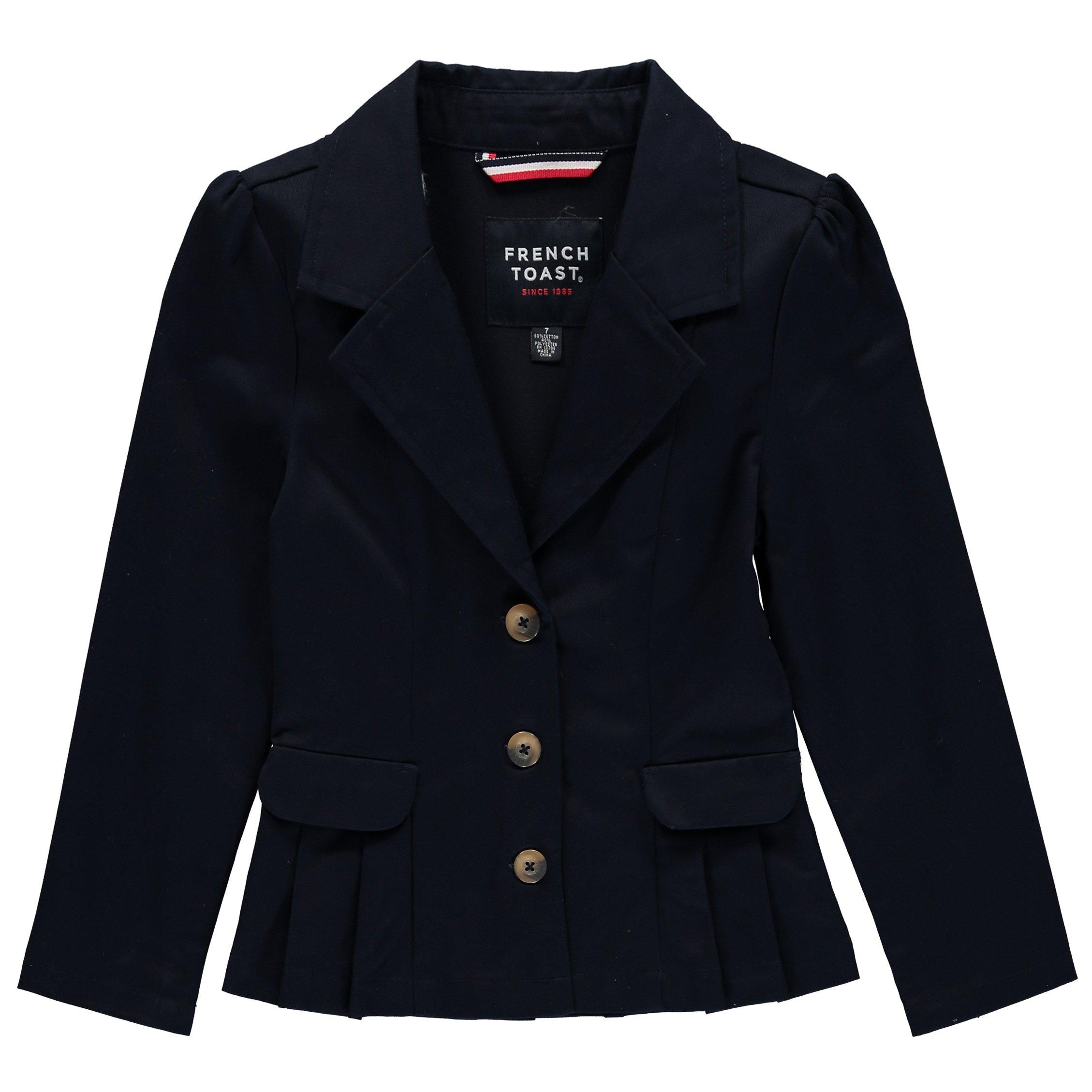 French Toast School Uniform Girls Twill Blazer, Navy, 14