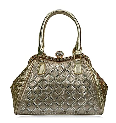 Zzfab Sparkle Purses Cross Rhinestone Sparkle Handbag Gold  Handbags   Amazon.com 68dab21896376