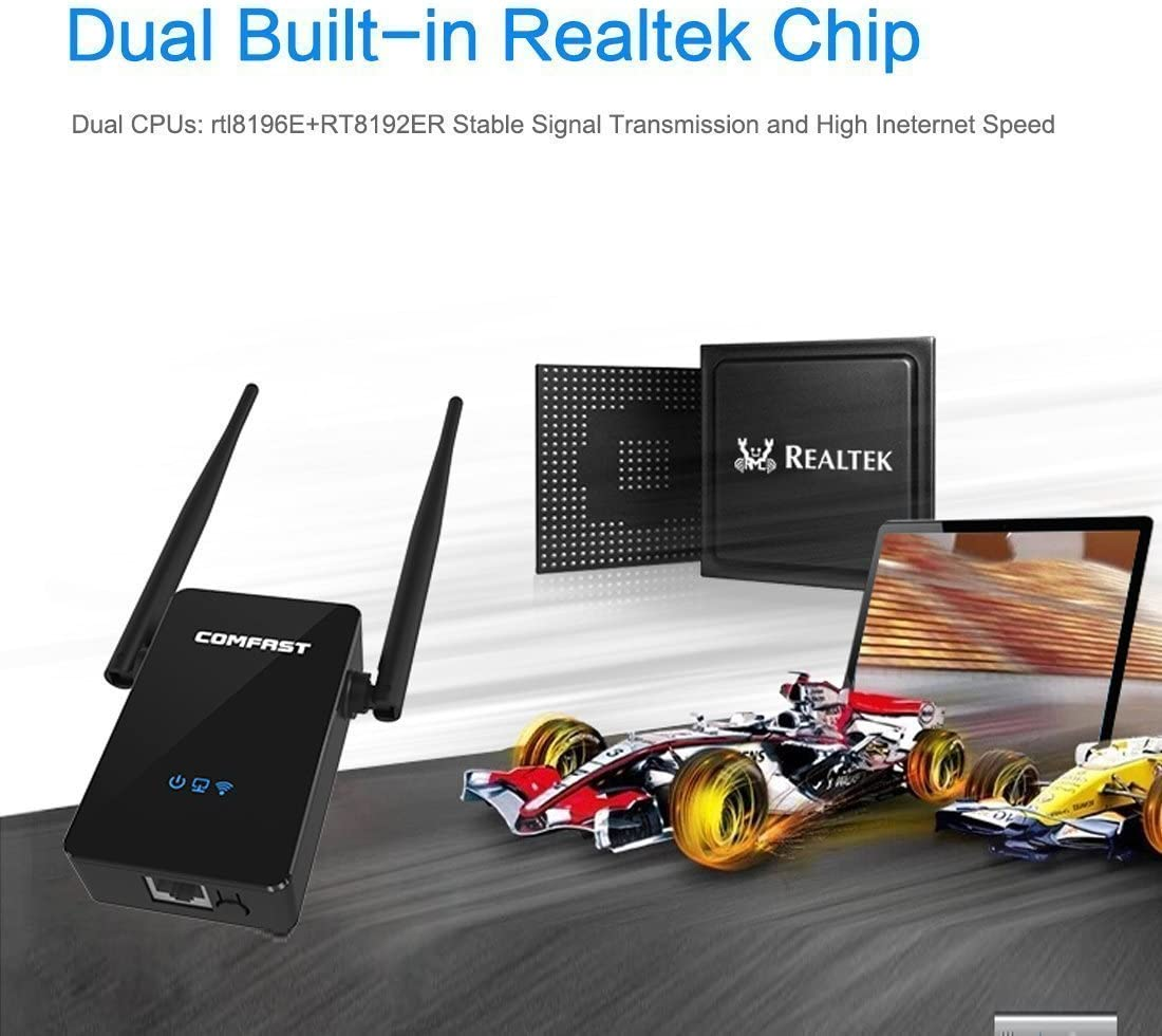 Comfast Extensor de red WiFi 300Mbps WiFi Booster Dual ...
