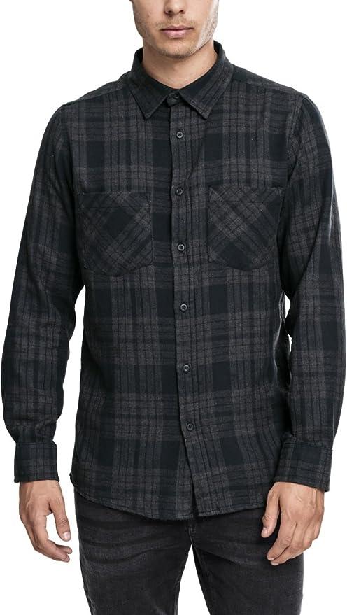 Urban Classics Hemd Checked Flanell Shirt 2, Maglia a maniche lunghe Uomo,  Multicolore (