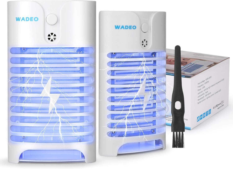 WADEO 2PCS Lampe Anti Moustique /Électrique UV Tueur de Moustique Tueur Dinsecte Mouches Pi/ège Sans-Radiation Anti-Insectes Moustiques Destructeur de Moustique Interieur /Électronique Insecte Lampe
