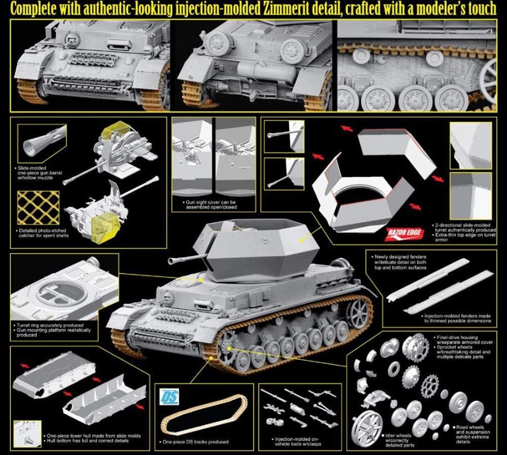6746 1//35 Flakpanzer IV Ostwind w// Zimmerit Kit Dragon  No