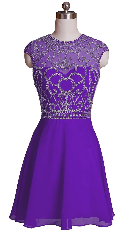 Queenworld Women's Two Shoulder Short Prom Dresses US-20 Regency