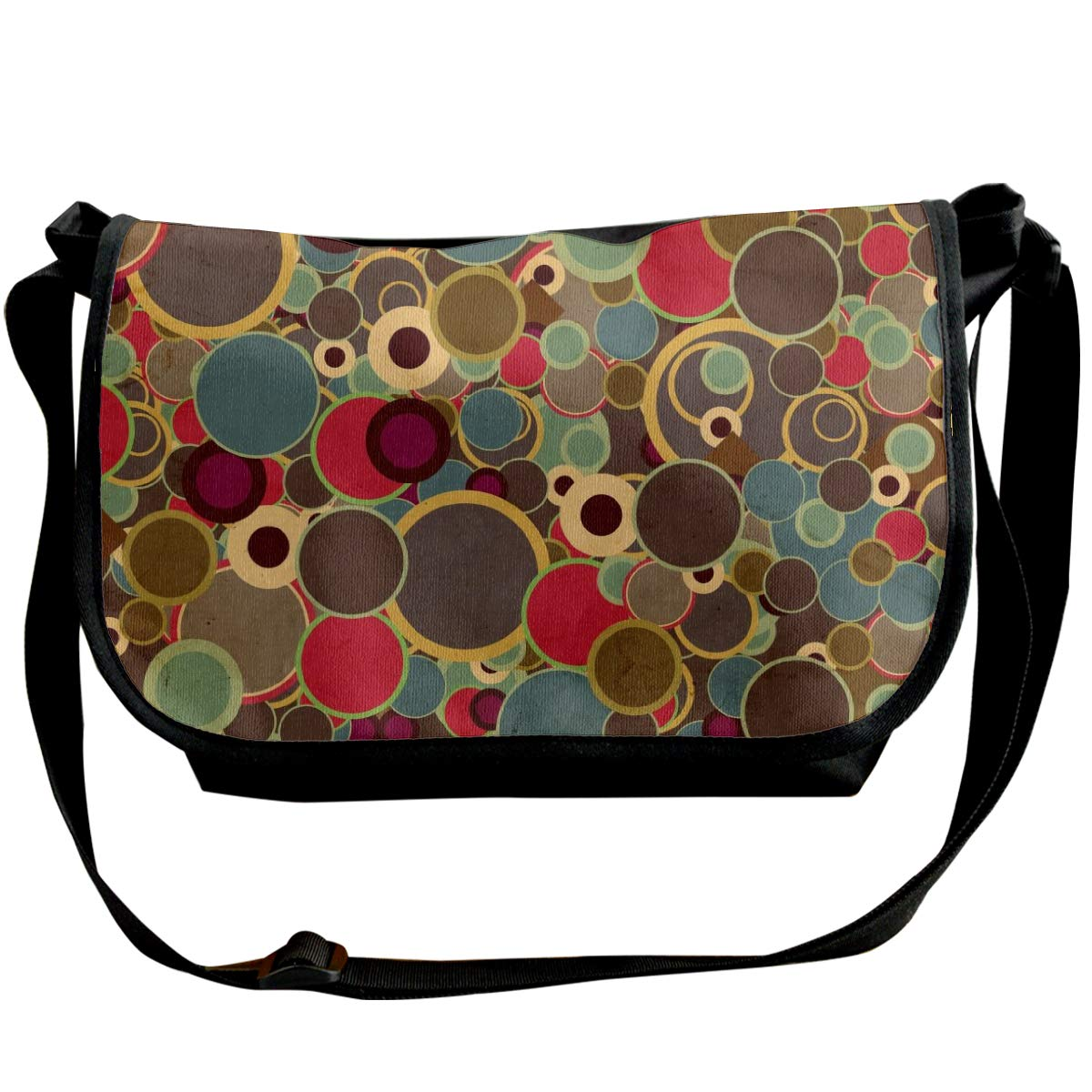 Taslilye Circles Background Surface Wallpaper Background Personalized Wide Crossbody Shoulder Bag For Men And Women For Daily Work Or Travel