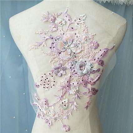 Amazon Blossom 3d Flower Applique Beaded Sequins Flower Lace