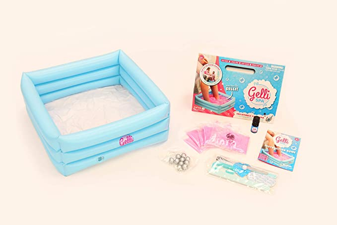 Glittery Pink Inflatable Foot Spa Gelli Spa Pack