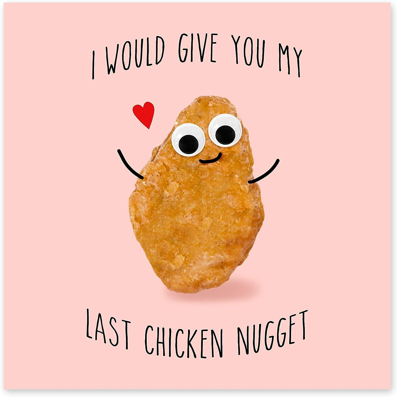 I Would Give You My Last Chicken Nugget Central 23 Divertente biglietto di anniversario partner per lui /& suo marito moglie viene fornito con divertenti adesivi fidanzato