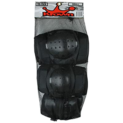 Krown Action Tri-Pack Pads : Skate And Skateboarding Knee Pads : Sports & Outdoors