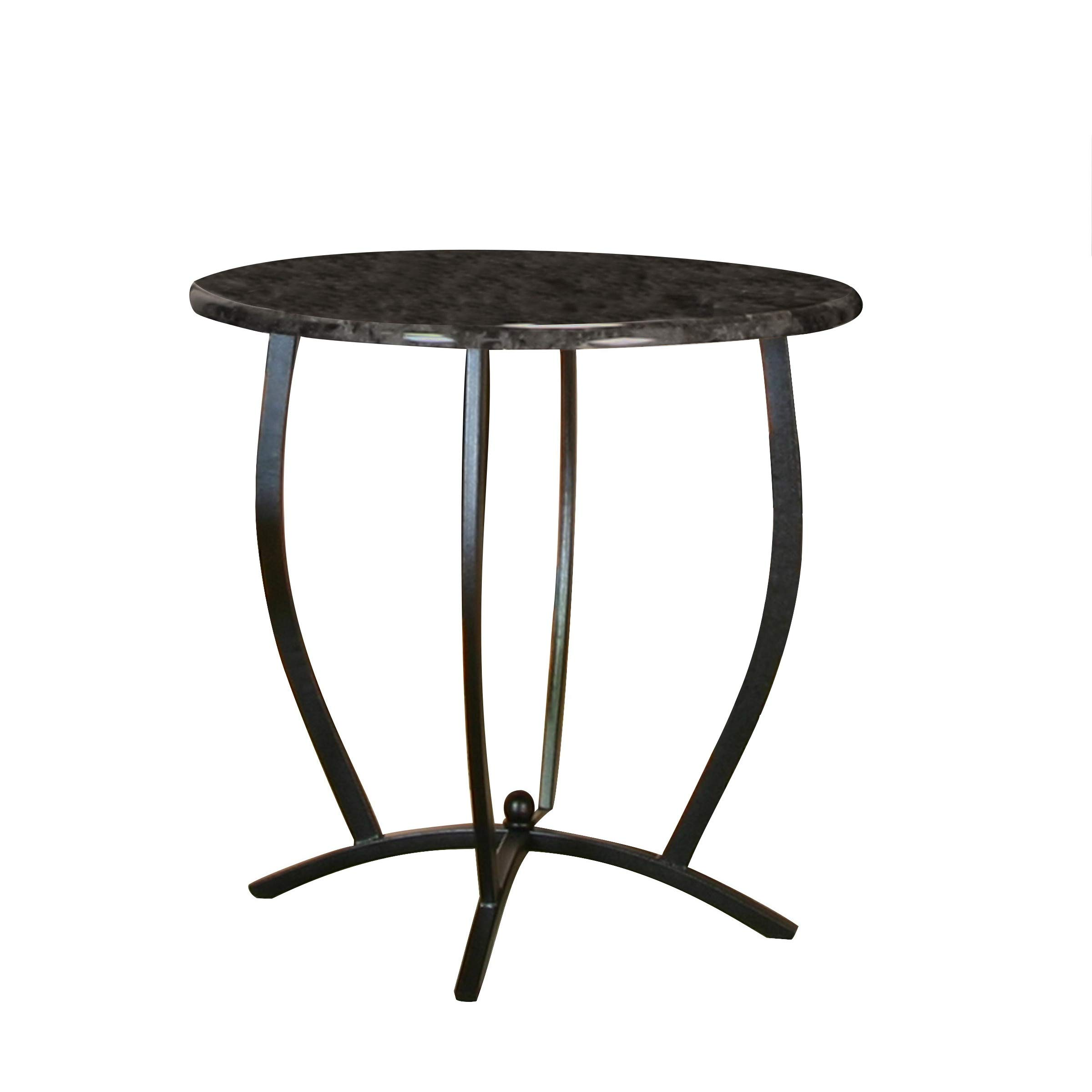Sunset Trading CR-72130-55-TB Sierra Dining Table, Textured Black Frame with Ebony Faux Marble top