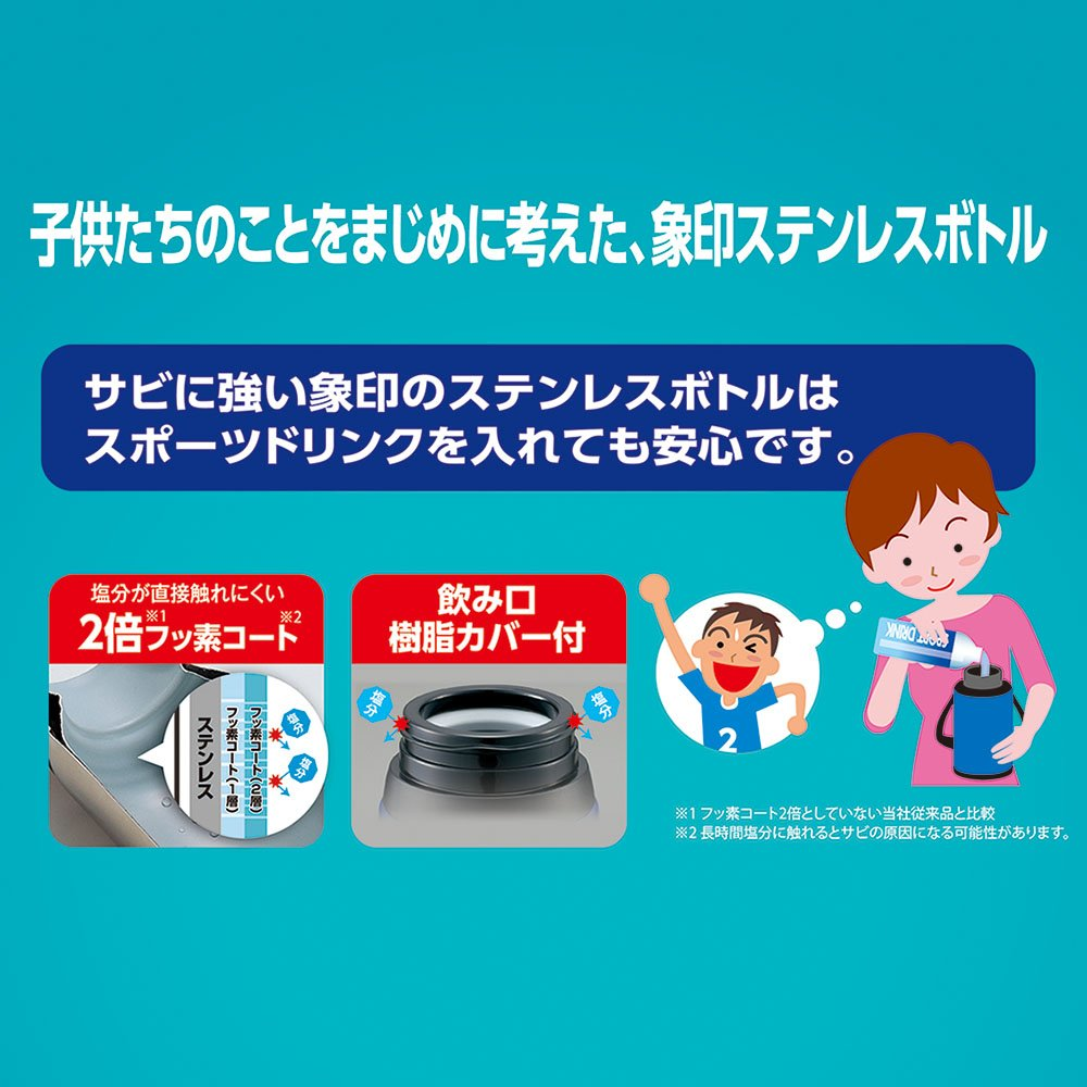 Zojirushi Stainless Steel Cool Flask - Sports Type (1.03L Capacity) Orange Navy SD-EC10-AD by Zojirushi (Image #4)