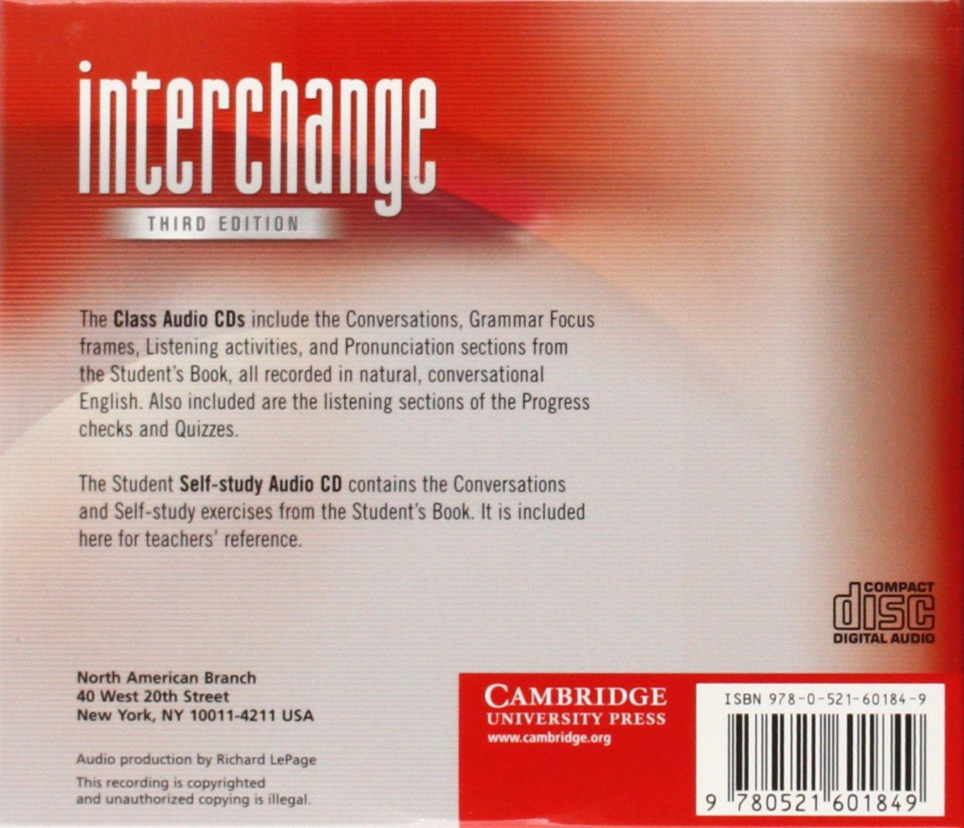 Interchange  Level 1 Class Audio CDs 1 by Cambridge University Press