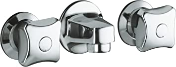 Kohler K 8046 2a Cp Triton Shelf Back Commercial Bathroom Sink Faucet With Grid Drain And Standard Handles Polished Chrome Touch On Bathroom Sink Faucets