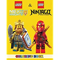 Lego Nexo Knights and Lego Ninjago Coloring Book: 2 in 1 Coloring Book for Kids and Adults, Activity Book, Great Starter Book for Children with Fun, Easy, and Relaxing Coloring Pages